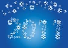 Zahl des neuen Jahres stock abbildung