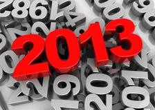 Zahl des neuen Jahres Stockfotos