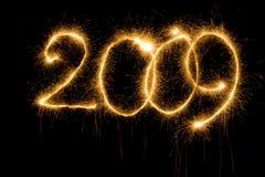 Zahl des Sparkler 2009 Lizenzfreie Stockfotografie
