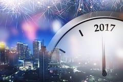 Zahl des Uhrpunktes 2017 Stockbilder