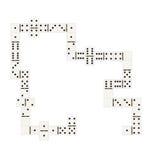 Zahl Dominochips Lizenzfreies Stockfoto