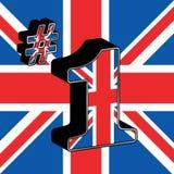 Zahl eine Großbritannien Stockfoto