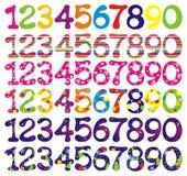 Zahl eingestellt mit abstrakten Mustern. vektor abbildung