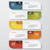 Zahl-Fahnenschablone des Designs saubere Vektor Stockbild