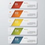 Zahl-Fahnenschablone des Designs saubere Vektor Lizenzfreies Stockbild