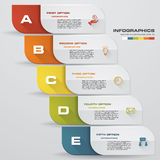 Zahl-Fahnenschablone des Designs saubere Vektor Lizenzfreies Stockfoto
