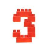 Zahl gemacht von den Spielzeugmauerziegeln Lizenzfreies Stockfoto