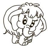 Zahl iskiz Elefant Vektor Abbildung