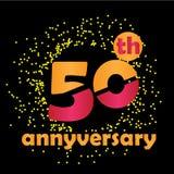 Zahl-50-jährige Jahrestags-Vektor-Schablonen-Entwurfs-Illustration - Vektor lizenzfreie abbildung