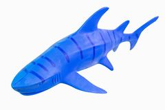 Zahl lokalisiertes Nahaufnahmebild des Spielzeugs Haifisch lizenzfreie stockfotos