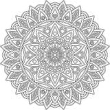 Zahl Mandala für die Färbung stockfotografie