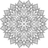 Zahl Mandala für Färbungsgekritzel sketc vektor abbildung