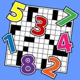 Zahl-Puzzlespiel Stockfotografie