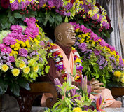 Zahl Svami Prabhupada in den Hasen Krishna Temple lizenzfreie stockfotos