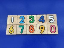 Zahl 0-9 u. x28; 2& x29; Stockfotografie