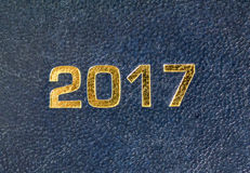 Zahl 2017 u. x28; Zwei tausend seventeen& x29; Stockbild