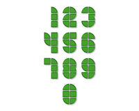 Zahl-Vektor-Ikonen mit Schatten Stockfotografie