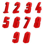 Zahl von 0 bis 9 Lizenzfreies Stockbild