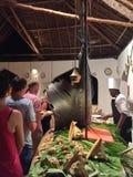 Zahl von Fischen in Sansibar-Restaurant Lizenzfreie Stockfotos