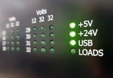 Zahl von leistungsfähigen Batterien Stockbilder