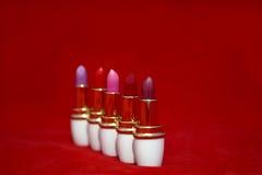 Zahl von Lippenstiften stockfotografie