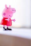 Zahl von Pepa Pig von Bäcker Davies/Unterhaltung eine Astley Großbritannien Animationen Lizenzfreies Stockbild