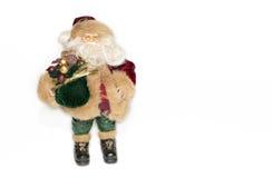 Zahl von Santa Claus auf einem weißen Hintergrund Stockfotos