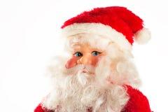 Zahl von Santa Claus lokalisierte auf Weiß Stockbilder