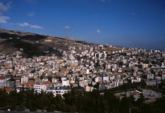 Zahle, Bekaa Vallei, Libanon. stock foto
