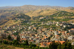 Zahle, Bekaa Valley, Lebanon. Zahle is the capital of the Beqaa Governorate, Lebanon. The largest Catholic city in the middle east royalty free stock images