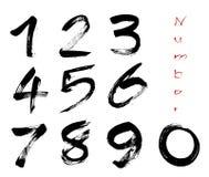 Zahlen 0-9 ENV Lizenzfreie Stockfotos