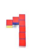 Zahlen 3d durch Cubes Lizenzfreie Stockbilder