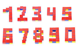 Zahlen 3d durch Cubes neun Stockfotos
