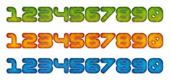 Zahlen 3d im Farbeffekt Stockbilder