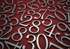 Zahlen vektor abbildung