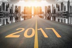 2017 Zahlen auf dem steet Stockfotos