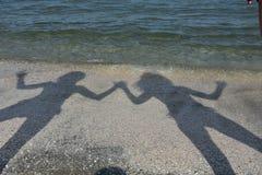 Zahlen auf dem Strand Stockfotos