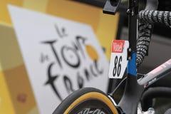 Zahlen auf dem Tour de France Lizenzfreies Stockbild