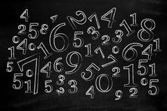 Zahlen auf Tafel lizenzfreie abbildung