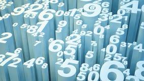 Zahlen 3d Stockfotografie