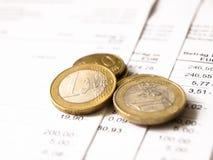 Zahlen der Rechnungen Lizenzfreie Stockfotografie