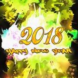 Zahlen des Aquarell-2018 Stockfotografie
