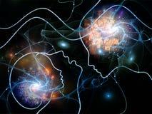 Zahlen des Gedanken-Netzes vektor abbildung