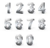 Zahlen des Metall 3d Stockfoto
