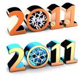 Zahlen des neuen Jahres 2011 (Mieten) Lizenzfreies Stockfoto