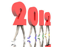 Zahlen des neuen Jahres Stockbild