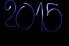 Zahlen des neuen Jahres 2015 Lizenzfreie Stockfotos