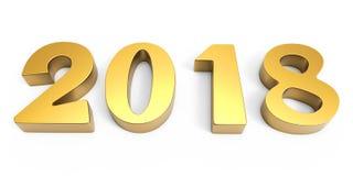 Zahlen 2017 des neuen Jahres Gold stock abbildung