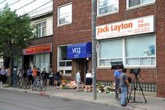 Zahlen des Respektes Jack Laytons im Büro Lizenzfreies Stockbild