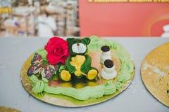 Zahlen für Dekoration des Kuchens 3626 der Kinder Stockfoto